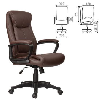 Кресло офисное BRABIX Enter EX-511 (коричневое)