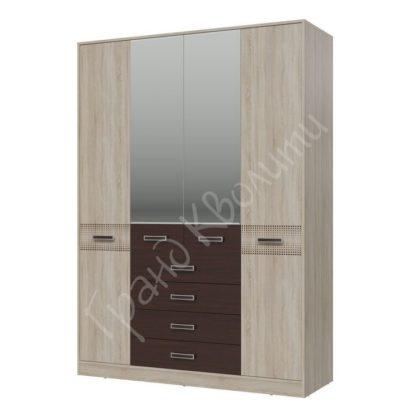 """Шкаф 4-х дверный с я ящиками """"Румба"""""""