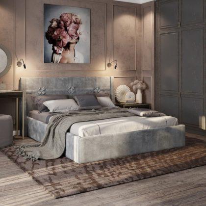 """Кровать двуспальная мягкая """"Джулия"""" 1,6 м"""