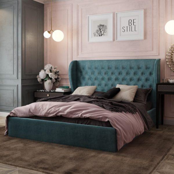"""Кровать двуспальная мягкая """"Жасмин"""" 1,6 м"""