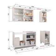 Кухонный гарнитур 1.6 внутр.нап. (Бостон, Виктория, Яна, Бергамо)