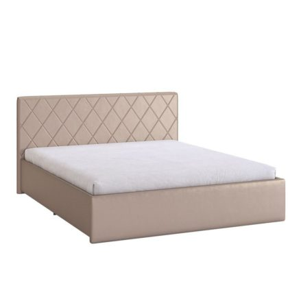 """Кровать двуспальная мягкая """"Ника"""", бронза"""