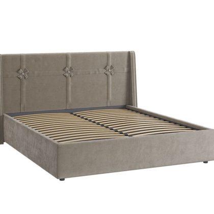 """Кровать двуспальная мягкая """"Джулия"""" 1,6 м, какао"""