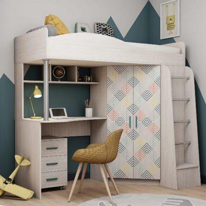 Кровать двухъярусная Каприз-1 с рисунком Елочки КПР.01