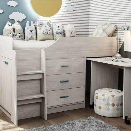 Кровать двухъярусная Каприз-6 без рисунка КПР.06
