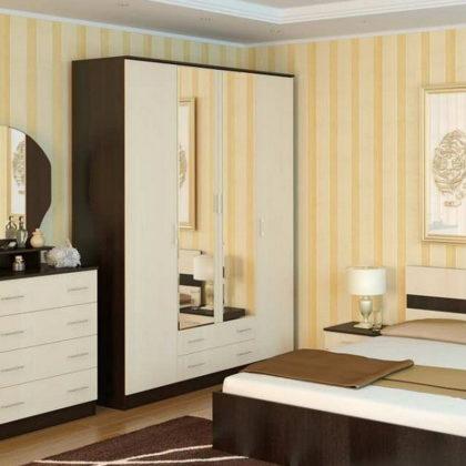 Шкаф четырехдверный Ника Н-4 (2 зеркала)