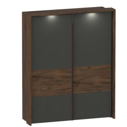 """Шкаф """"Глазго"""" с раздвижными дверями двухдверный с обрамлением"""