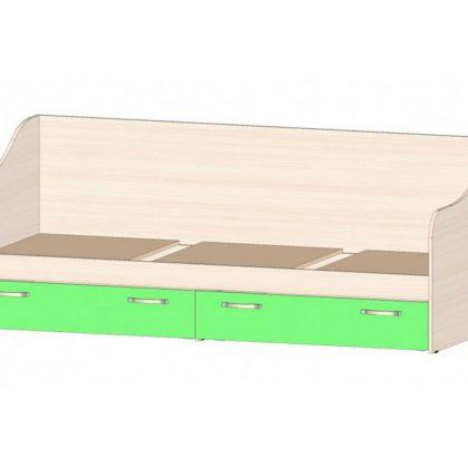 """Кровать детская с ящиками """"Буратино"""" дуб мол./зеленый"""