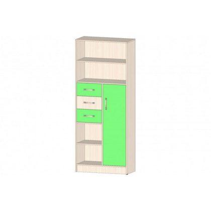 "Шкаф Стеллаж ""Буратино"" дуб мол./зеленый"