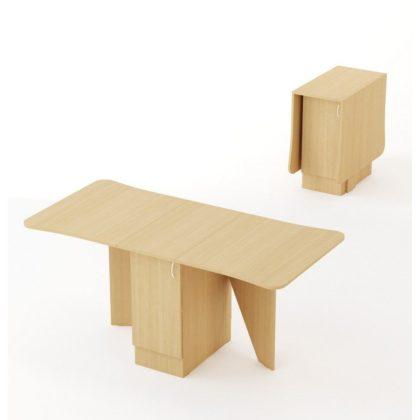 Стол-книжка «Фигурная» СТ-04 беленый дуб