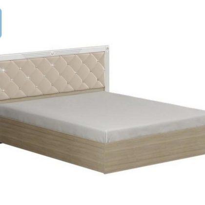 """Кровать двуспальная 1.6м """"Амели"""" мягкий щиток без ортопеда"""