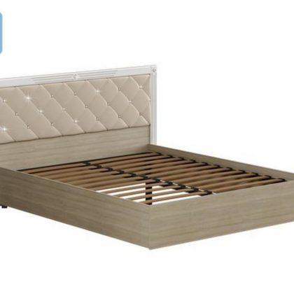 """Кровать двуспальная 1.6м """"Амели"""" мягкий щиток с ортопедом"""