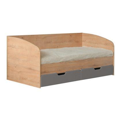 """Кровать детская с ящиками """"Скай"""" М14 (дуб бунратти/графит)"""