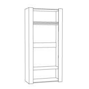 "Шкаф двухстворчатый для одежды ""Амели"" 13.133-1"