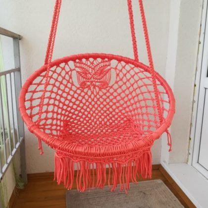 Подвесное кресло ПК-1 (коралловый)