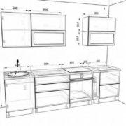 "Модульная кухня ""Бруклин"" (белый бетон) схема"