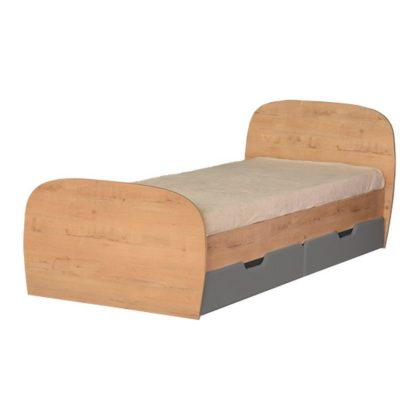 """Кровать детская с ящиками """"Скай"""" М13 (дуб бунратти/графит)"""
