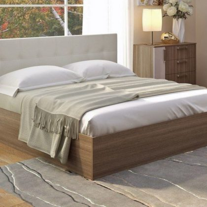 "Кровать двуспальная 1,6м ""Баунти"" ясень шимо"