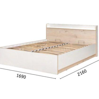 Кровать двухспальная 1,6 «Веста» 11.13