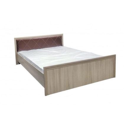 """Кровать двуспальная """"Гармония"""" 1,6м. без ортопеда с мягкой спинкой"""