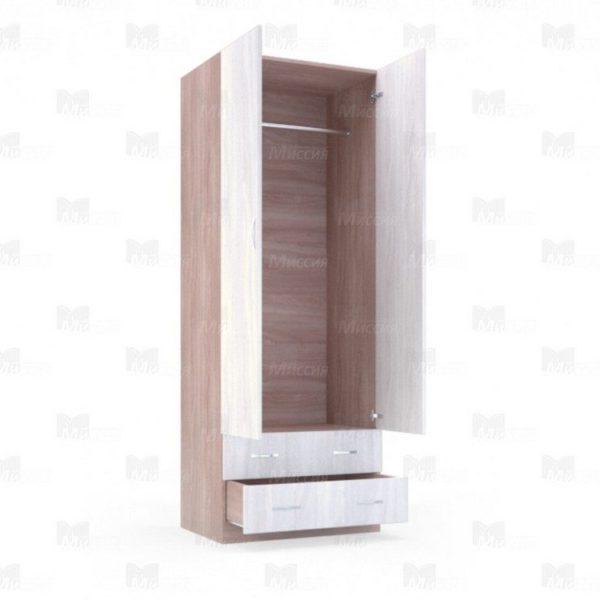"""Шкаф двухстворчатый с ящиками """"Лира"""" 0,8 м"""