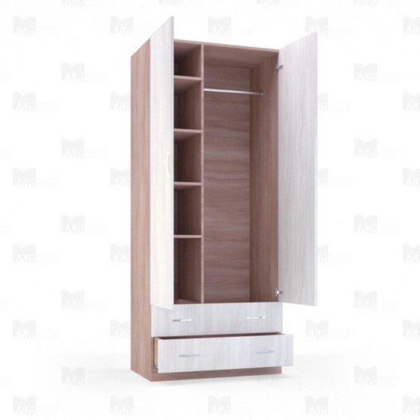 """Шкаф двухстворчатый с ящиками """"Лира"""" 0,9 м"""