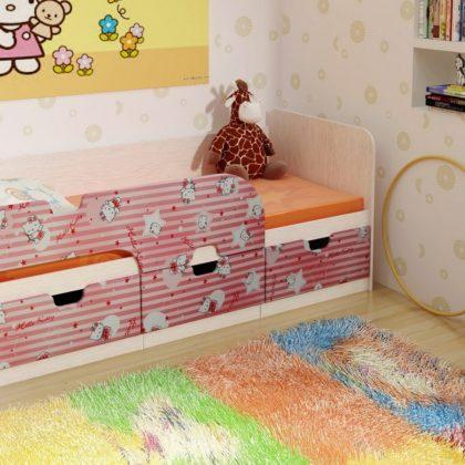 """Кровать детская с ящиками 1,86 """"Минима"""" Hello Kitty"""