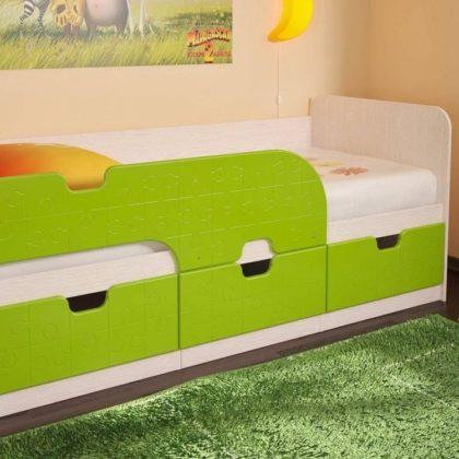 """Кровать детская с ящиками 1,86 """"Минима"""" пазл"""