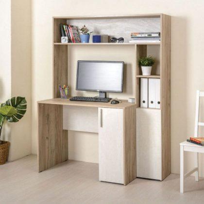 Стол компьютерный «Комфорт» 12.74 Дуб Крафт серый/Шелковый камень