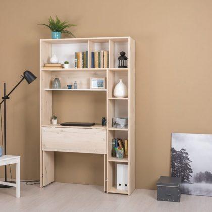 Стол письменный с системой хранения «Комфорт» 12.94 белый/гаскон пайн светлый