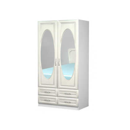 """Шкаф 2-х створчатый """"Жемчужина"""" с зеркалами"""