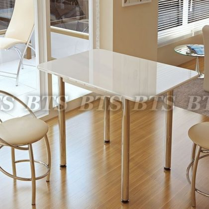 Стол обеденный белый глянец (BTS)