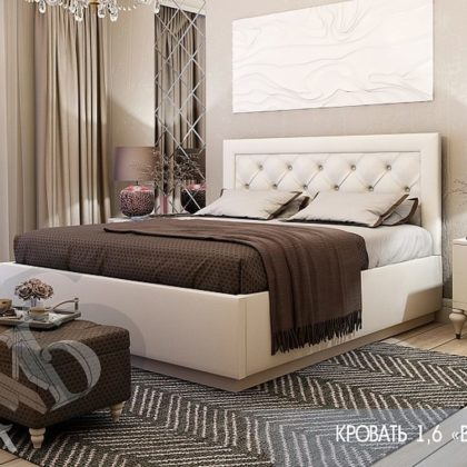 """Кровать двуспальная с подъем. мех. 1,6 м """"Версаль"""""""