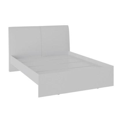 """Кровать двуспальная """"Доминика"""" 1,4 м, белый/белый"""
