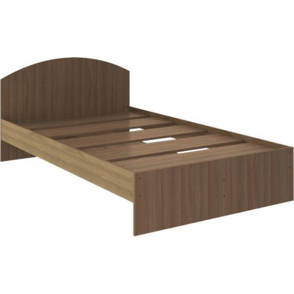 """Кровать двуспальная """"Веста"""" 1,2 м, ясень шимо темный"""