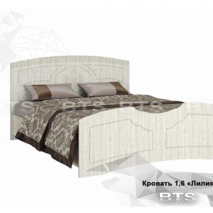 """Кровать двуспальная 1,6м """"Лилия"""" (BTS)"""
