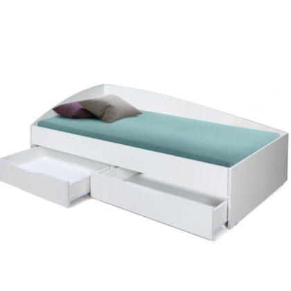 """Кровать детская ассиметричная """"Фея-3"""" (900*2000), белая"""