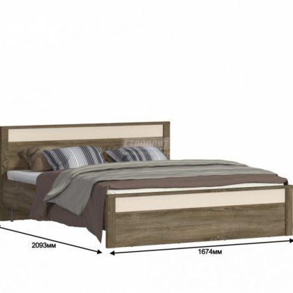 """Кровать двуспальная 1,6м """"Монако"""" СБ-2141"""