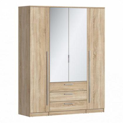 """Шкаф четырехстворчатый с зеркалом """"Николь"""" СБ-2595.Н"""