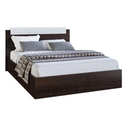 """Кровать двуспальная """"Эко"""" 1,6 м, венге/лоредо"""