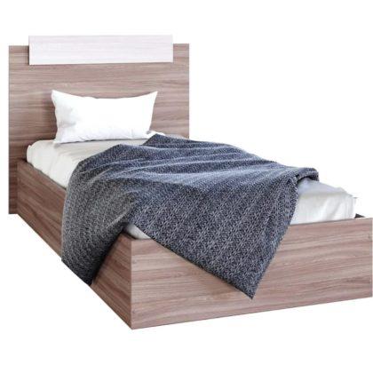 """Кровать односпальная """"Эко"""" 0,9 м, ясень шимо"""