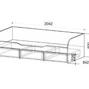 Кровать детская Сити 4.1 схема