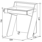 Стол для ноутбука схема
