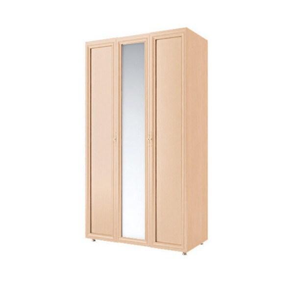 "Шкаф 3-х створчатый с зеркалом ""Амелия"" (модуль 1) дуб млечный"