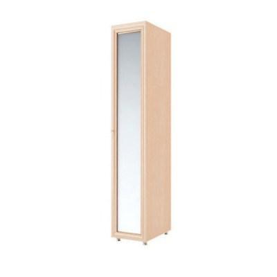 Модуль №5 Амелия Шкаф пенал фасады: зеркало (Дуб Млечный)