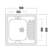 Мойка для кухни накладная AS03171 схема