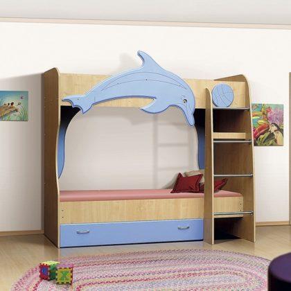 Кровать Vitamin А (клен-голубой лед) МДФ