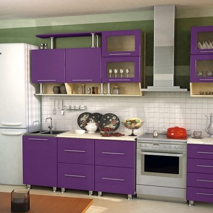 Кухонный гарнитур Dolce Vita-11 (клен-фиолетовый)