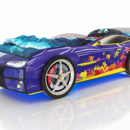 Кровать Romack Kiddy синяя - пазл