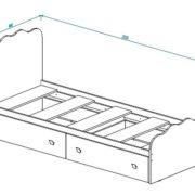 """Кровать с ящиками """"Париж"""" Кр-18 схема"""